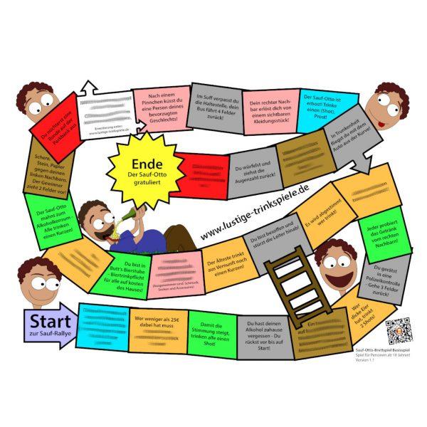 Saufspiel Brettspiel zum Ausdrucken